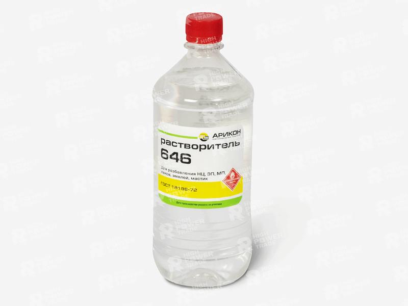 Растворитель Р646 Пластиковая бутылка 0,9л